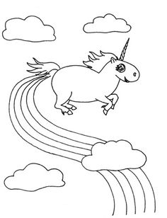 1000 images about unicorns pooping rainbows on pinterest for Rainbow unicorn coloring pages