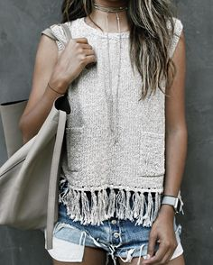 Tassel love! | New 'Tulum' knit @shop_sincerelyjules top! http://ift.tt/1dK8wvR by sincerelyjules