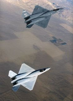 """Northrop–McDonnell Douglas YF-23, stealth fighter aircraft. 1990.  """"Black Widow II"""" and """"Gray Ghost"""""""