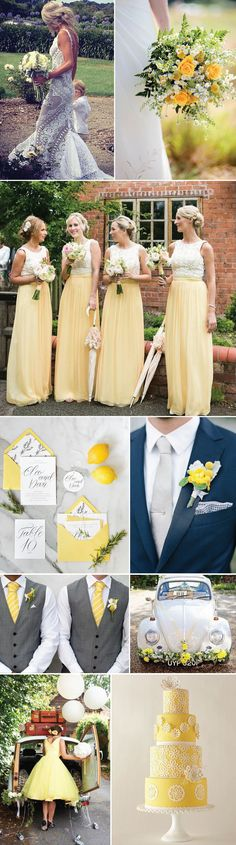 There is something wildly endearing and enchanting about citrus yellow weddings. This stylishly upbeat color is an excellent, swoon worthy choice for a spring/summer wedding. From citrus yellow floral bouquets to designer yellow floral cakes, this color delivers!