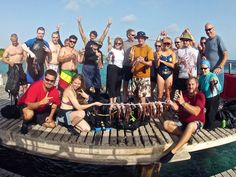 WLHA's Executive Director, Scott Harrell, working with Ocean Encounters' Lionfish Scuba Diving Experience. Celebrating 2,000 lionfish being removed that day as a result of their effort to educate divers about the lionfish invasion and get them interested in hunting!