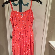 Orange dress. Lightly worn good condition. Cute for the summer. Old Navy Dresses Midi