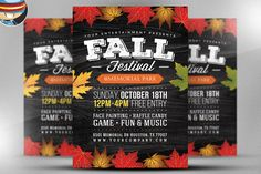 Fall Festival Flyer Template 2 by FlyerHeroes on @creativemarket