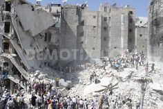 Buildings collapse in Aleppo after alleged Assad forces shelling by Halabi Lens  Buildings collapsed in Aleppo as a result of shelling by forces loyal to Syria's President Bashar al-Assad in Aleppo's Bustan al-Qasr neighborhood.  [August 16th, 2013, Aleppo]  View all story! http://www.demotix.com/news/2440853/buildings-collapse-aleppo-after-alleged-assad-forces-shelling#media-2440791