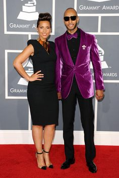 Alicia Keys ... Awesome Shoes!  Pretty sure they are the same ones Rihanna was wearing