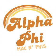 Mac and phis Alpha Phi Shirts, Alpha Phi Sorority, Sorority Names, Sorority Crafts, Sorority Outfits, Alpha Chi, Sorority Shirts, Theta, Fraternity Shirts