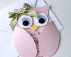 25 Fancy Owl Custom Birthday Invitations by EmbellishedP Basteln mit Senioren Owl Invitations, Dinosaur Birthday Invitations, Custom Birthday Invitations, Baby Shower Invitations, Spa Day Gifts, Baby Cards, Craft Gifts, Birthday Cards, Birthday Banners