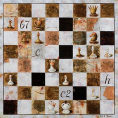 Decoupage, Canvas Art Projects, King Design, Chess Pieces, Illustrations, Art Object, Board Games, Chess Games, Alice