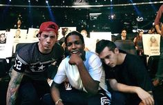 Twenty one pilots and Rocky at the vmas