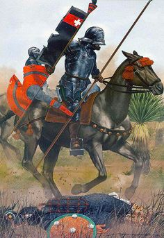 Hernan Cortes at the Battle of Otumba by Dionisio Alvarez Cueto Spain History, European History, Art History, Medieval Knight, Medieval Armor, Medieval Fantasy, Conquistador, Military Art, Military History