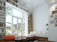 boekenkast & openslaande deuren woonkamer