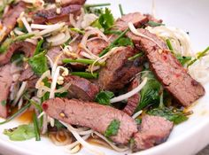 Thai-Style Marinated Flank Steak and Herb Salad, Photo Credit and Recipe: seriouseats.com