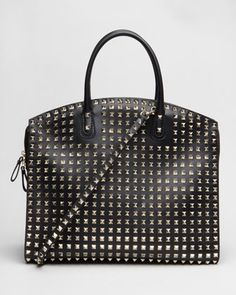 Allover Studded Rockstud Tote by Valentino at Neiman Marcus.#NMFallTrends