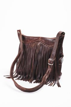 Boho Perfection: Leather Purse with Fringe Earthbound Trading Co.