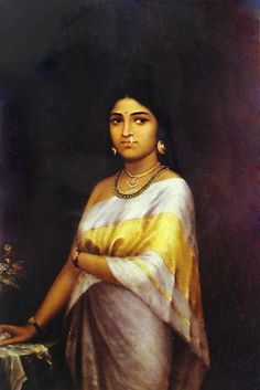 Reprints of Raja Ravi Varma Paintings: Kerala Royal Lady