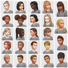 Just recolored/retextured ALL of the child hairs for the base game and packs. Check them out!https://vicariouslivingsims.wordpress.com/2015/05/18/all-child-hairs/