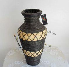 Chinese Natural Rattan Vase $60