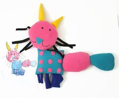 Custom dolls from your kid's artwork...Forget hanging your child's artwork on the fridge. These custom dolls from drawings your kids make is the coolest way to celebrate all that hard work : cool mom picks : dolls 'n' all