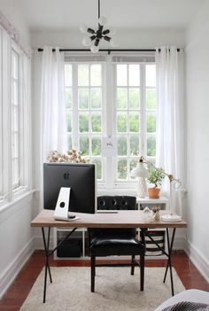 neutral office space #theeverygirl