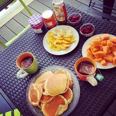 Brunch @llea_c  #family #lyon #brunch #pancakes