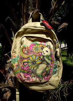 Sharpie Art Backpack:    Jshine Pandapack by JShine, via Flickr