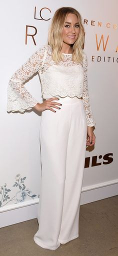 e950678c54 Lauren Conrad looked feminine in her all-white lace look. All Star