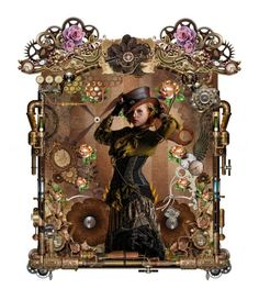 """""""Steampunk Beauty"""" by barebear1965 ❤ liked on Polyvore featuring art"""