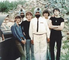 The Beatles on a stopover in India in July of 1966.