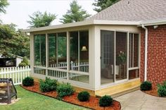 An outdoor enclosed patio add value to your home. An outdoor enclosed patio is an extension of a house that usually consists of some type of patio area closed off. Screened Porch Designs, Backyard Patio Designs, Patio Ideas, Porch Ideas, Screened Porch Decorating, Terrace Ideas, Backyard Ideas, Concrete Patios, Pergola Patio