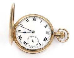 Gentleman's 9ct gold Hunter pocket watch