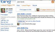 Bing lanza Linked pages, para ayudar a encontrar personas desde internet.