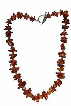 Vintage Bright Baltic Honey Amber Faceted Crystal Bead Necklace | eBay
