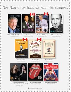 This Nonfiction reads for fall 2012 ad features some fascinating Canadians.