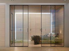 Puerta corrediza en aluminio y vidrio G-LIKE Colección Moderno by GIDEA