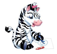 funny cartoon zebra clip art http zebra pictures clipartonline net rh pinterest com zebra clip art public domain zebra clipart free