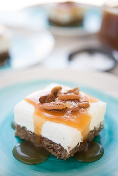 Recipe: Labneh Cheesecake Bars with Salted Honey Sauce — Recipes from The Kitchn