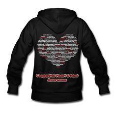 CHD Awareness heart shaped. Hoodie | Spreadshirt | ID: 9075389 Chd Awareness, Congenital Heart Defect, Custom T Shirt Printing, Personalized Shirts, Hoodies, Sweatshirts, Custom Clothes, New Baby Products, My Style