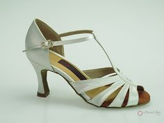 Natural Spin Latin Shoes(Small Open Toe):  M1396-03_WhiteJS