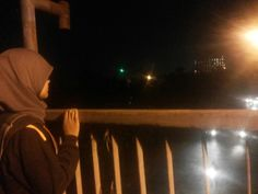 Night at the walk bridge