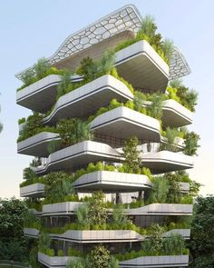 Dezeen Architecture, Nature Architecture, Architecture Building Design, Facade Design, Futuristic Architecture, Beautiful Architecture, Exterior Design, Vincent Callebaut, Vertical Forest