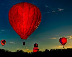 I have obsession with the color red and hot air balloons. Balloon Rides, Red Balloon, Hot Air Balloon, Flyer Inspiration, Air Ballon, My Favorite Color, Sunrise, Tumblr, Pictures