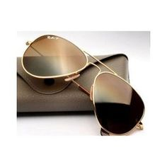 ray ban aviator mercury golden sunglasses  brown glass golden framed aviator 100% uv protector by rayban sunglasseshttp