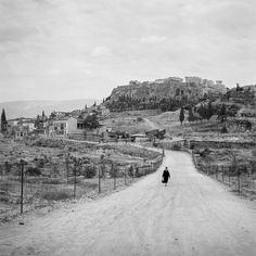Ελλάδα Αθήνα 1954 ο δρόμος του αστεροσκοπείου φωτογραφία Robert McCabe.