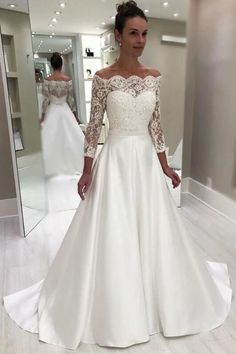 42 Off The Shoulder wedding dresses to see - # bridal dresses .- 42 Off The Shoulder Brautkleider zu sehen – 42 Off The Shoulder wedding dresses to see – # bridal gowns # see - Wedding Dress Trends, Boho Wedding Dress, Dream Wedding Dresses, Bridal Dresses, Wedding Bride, Lace Wedding, Satin Wedding Dresses, Princess Wedding, Gown Wedding