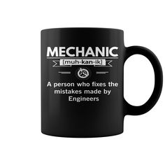 Mechanic Definition - Funny Mechanic Meaning Hot Mug  coffee mug, cool mugs, funny coffee mugs, mug gift #mugs #ideas #gift #mugcoffee #coolmug