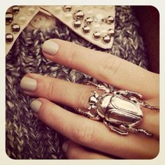 Love. scarab beetle ring. silver
