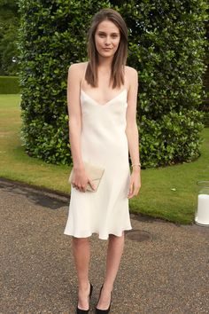 Charlotte Wiggins wearing Ralph Lauren Collection.