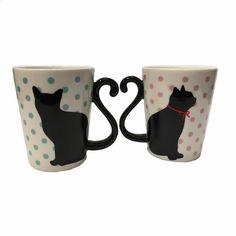 Japanese Dishes – Ceramic Cat Mug Set