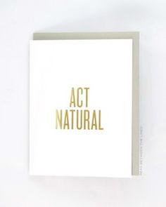 Image of ACT NATURAL Card