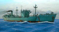 Petrolero de flota Kenjo Maru 1944, hundido por submarino USS Razorback en Isla…